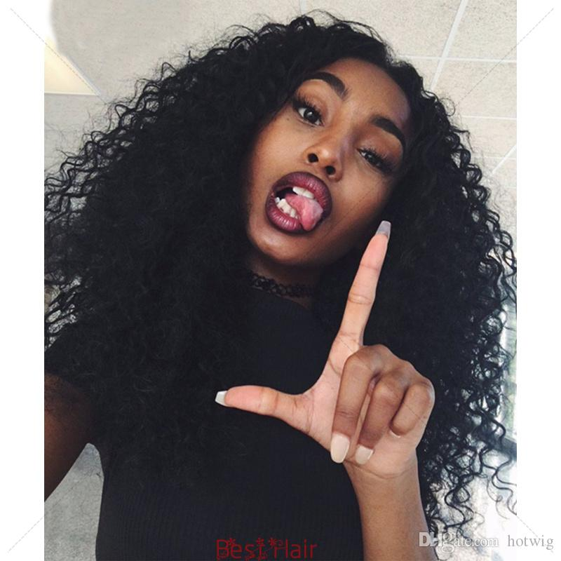 Mongolian Afro Kinky Curly Full Lace Wigs For Black Women Lace Front Wigs Glueless Full Lace Human hair Wig