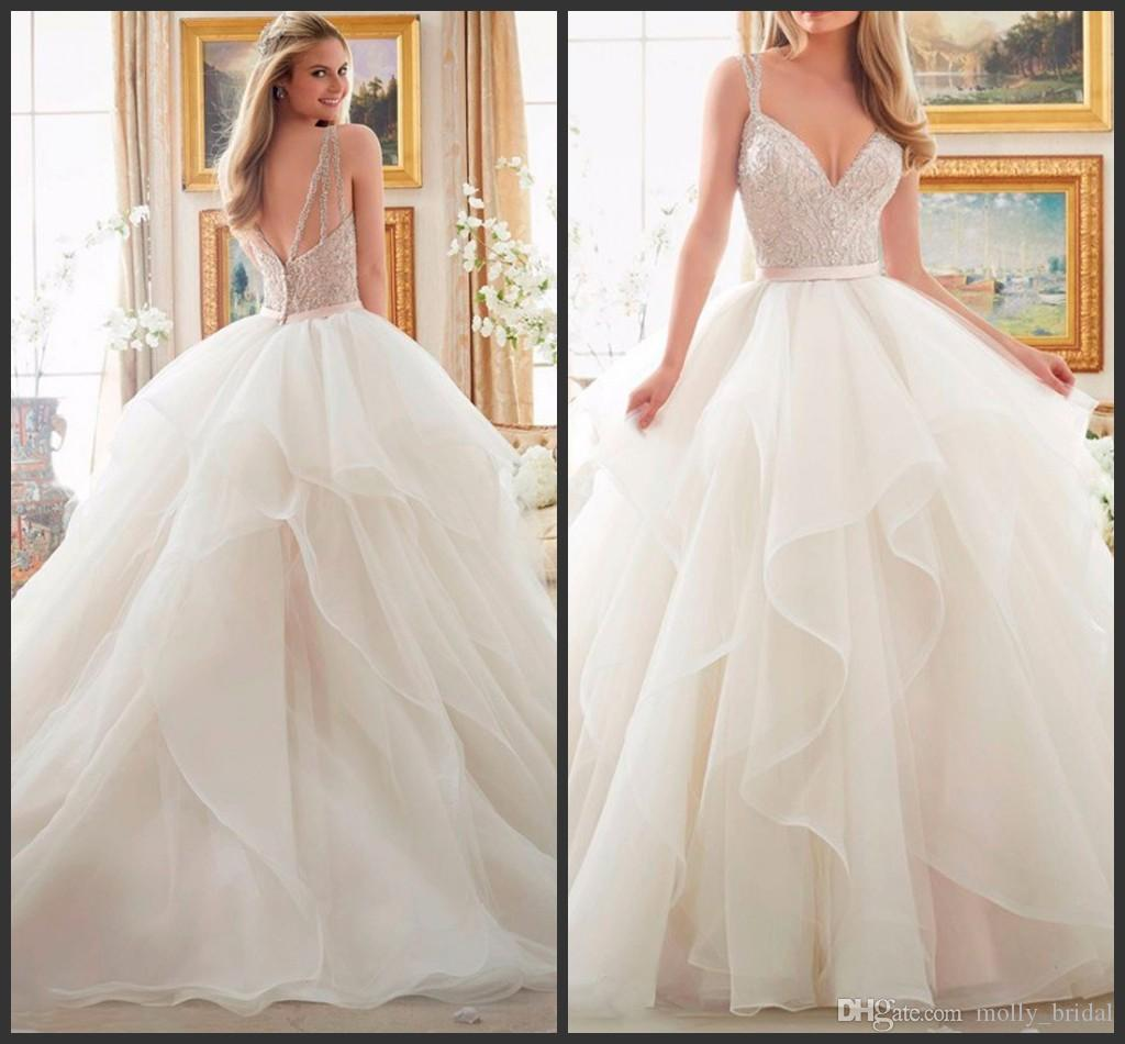 Ruffle Ball Gown Wedding Dress: Luxury Ruffles Ball Gown Wedding Dresses 2017 New Arrival