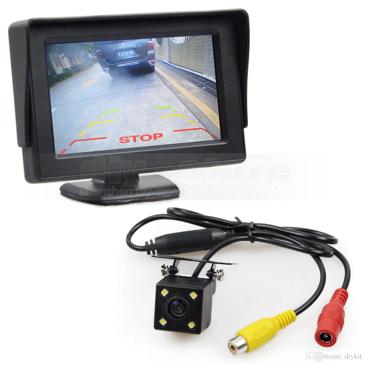 2018 Wire 4.3inch Tft Lcd Car Monitor Rear View Kit Reversing Hd Led ...