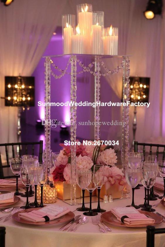 Akrilik standı sadece çiçek akrilik vazo toptan şeffaf akrilik ucuz uzun düğün vazolar