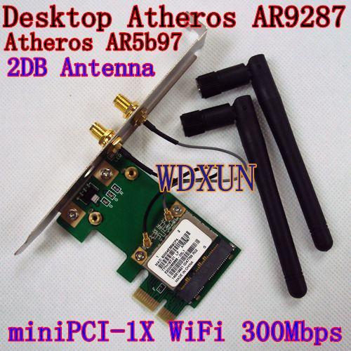 Wholesale Dedicated Desktop WIFI AR9287 300M PCI E 1x Wireless Card