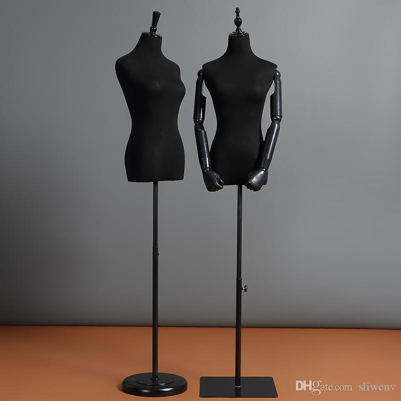 Compre Flexible Maniquí De Plástico Mano Medio Cuerpo Mujer Maniquí ...