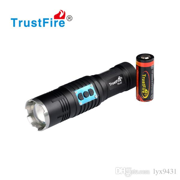 Zoom LED Flashlight High Power Super Bright Rechargeable LED Emergency Light Motor Driving Flashlight beam Focus Handy Portable Flash Light