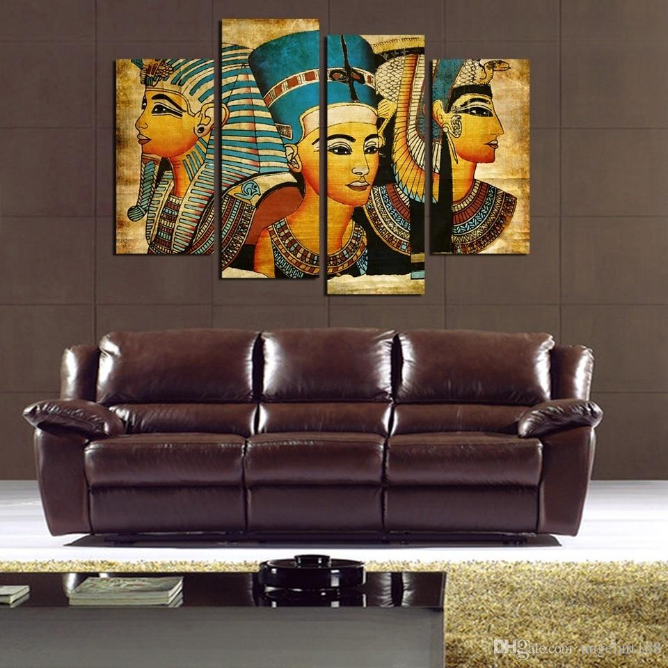 Egyptian Pharaoh No Frame Wall Art Oil Painting On Canvas Paintings Figure  Abstract Picture Decor Living Room Wall Art Picture Figure Painting  Egyptian ...