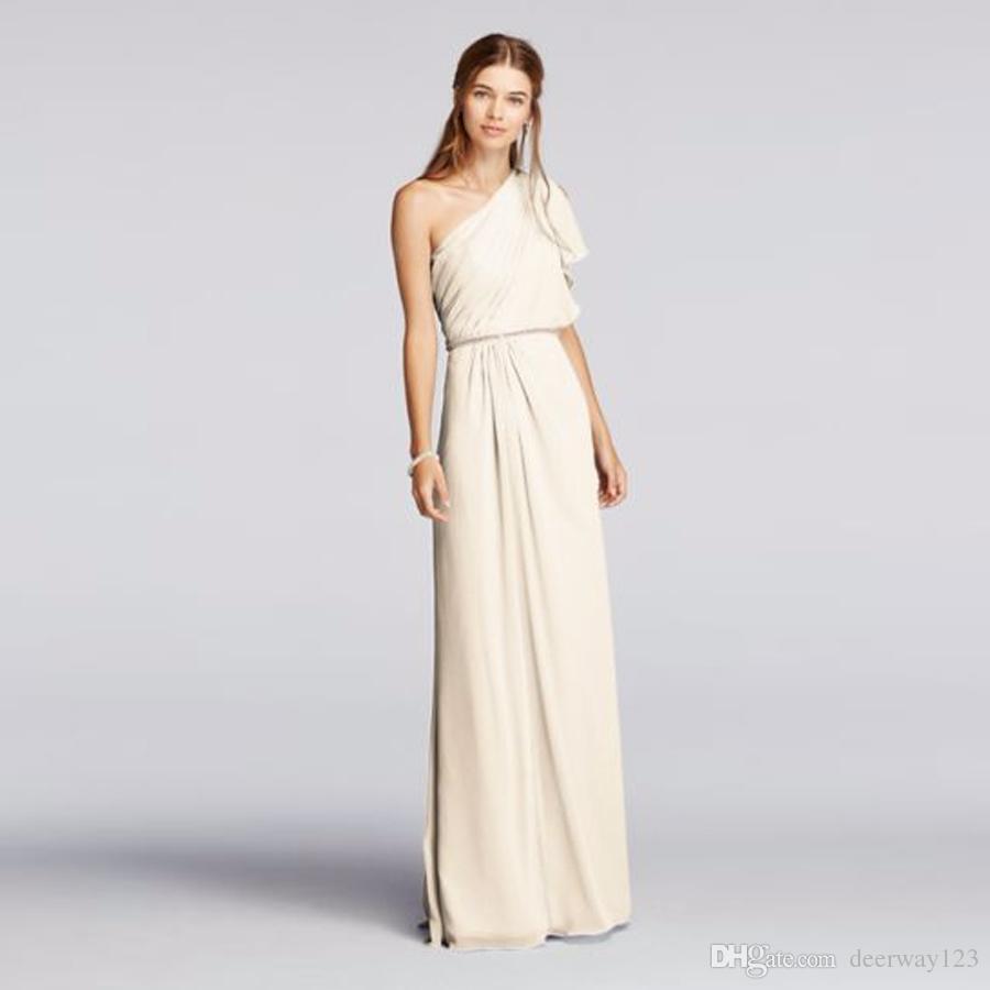 5c484617923 One Shoulder Split Sleeve Floor Length Chiffon Bridesmaid Dresses JP291631 Wedding  Party Dress Evening Dress Formal Dresses Chief Bridesmaid Dresses ...