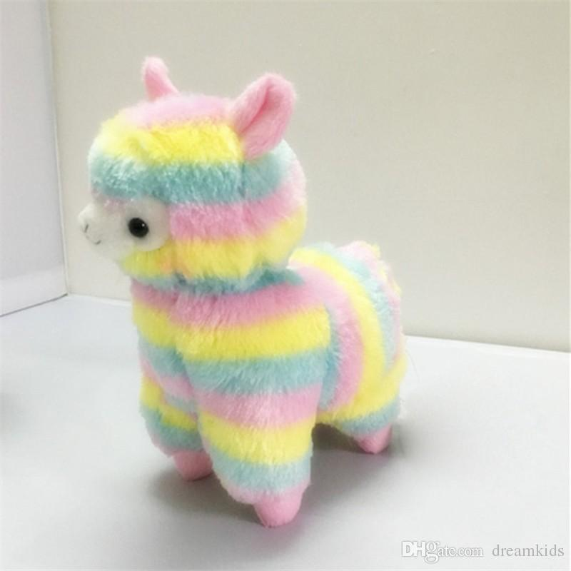 17cm Rainbow Alpaca Vicugna Pacos Plush Toy Japanese Soft Plush Alpacasso Baby Plush Stuffed Animals Alpaca Child Gifts