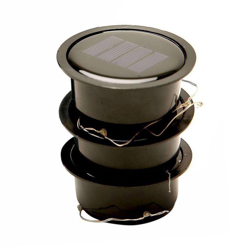 Hot Mason Jar Lights 10 LED White Solar Fairy Lights Tapas para insertar en el patio del patio Fiesta Boda Navidad Iluminación decorativa