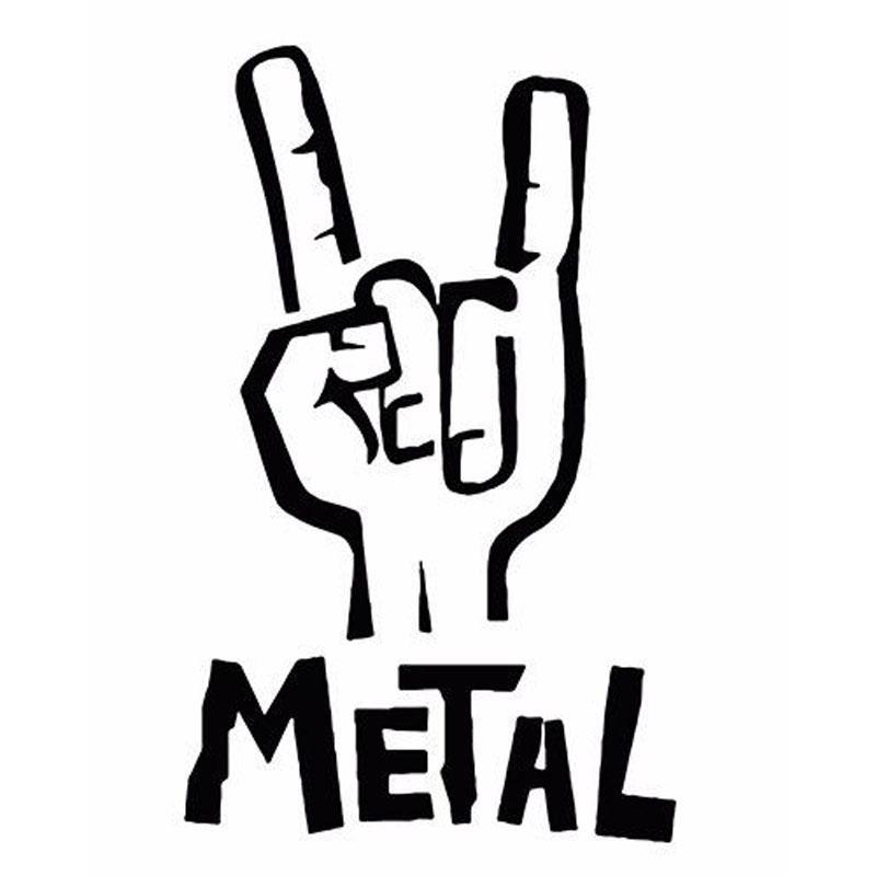Heavy Metal Sticker Vinyl Aufkleber E Bass Rock Persönlichkeit Auto Aufkleber Zubehör