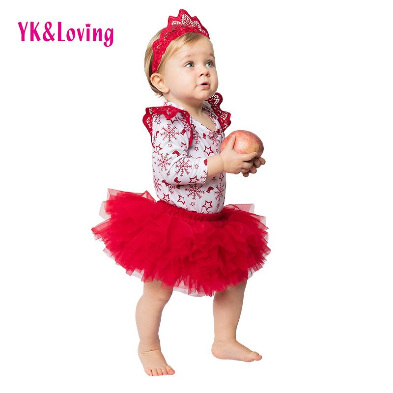 Wholesale Red Snowflake Christmas Clothes Sets For 0 2 Years Old