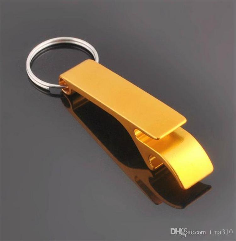 Nuevo metal aleación de aluminio llavero cadena anillo con cerveza botella abridor personalizado, grabado láser para libre Abridores