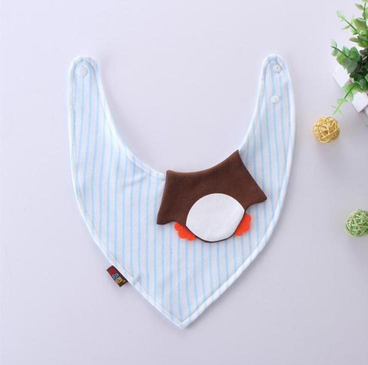 Fox Cotton Baby Bibs Newborn Girls Boys duck fish Burp Cloths Double Layer Cartoon Animal Towel Bandanas Infant Saliva Towels