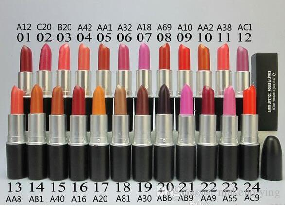Free DHL Shipping! Hot Selling make up MATTE LIPSTICK ROUGE A LEVRES 3g lipstick 24 different color random mix color
