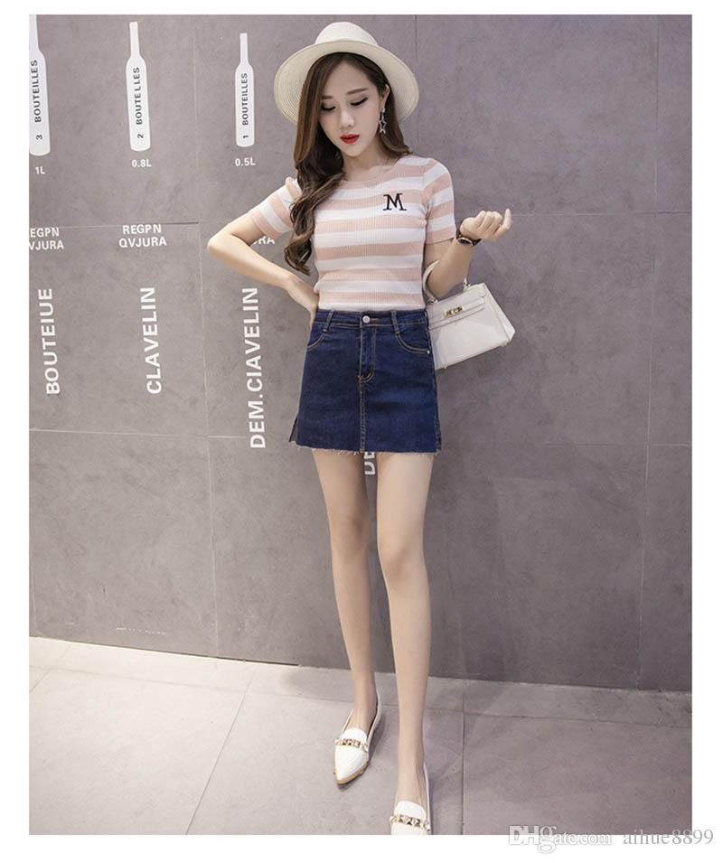 1676be102d New Casual Women Summer Saias Plus Size Denim Jeans Skirt Ladies Short Jean  Pencil Skirts Midi XXXL 4XL 5XL 6XL Femininas Plus Size Special Occasion  Dresses ...