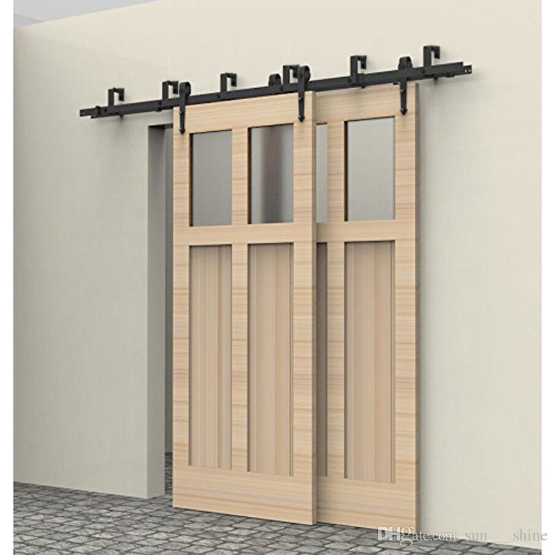 Amazing 2018 5f16ft New Style Bypass Slide Door Hardware Door Hardware Closet Track  Kit Set Barn Door Hardware Double Track Kit Arrow New From Sun___shine, ...