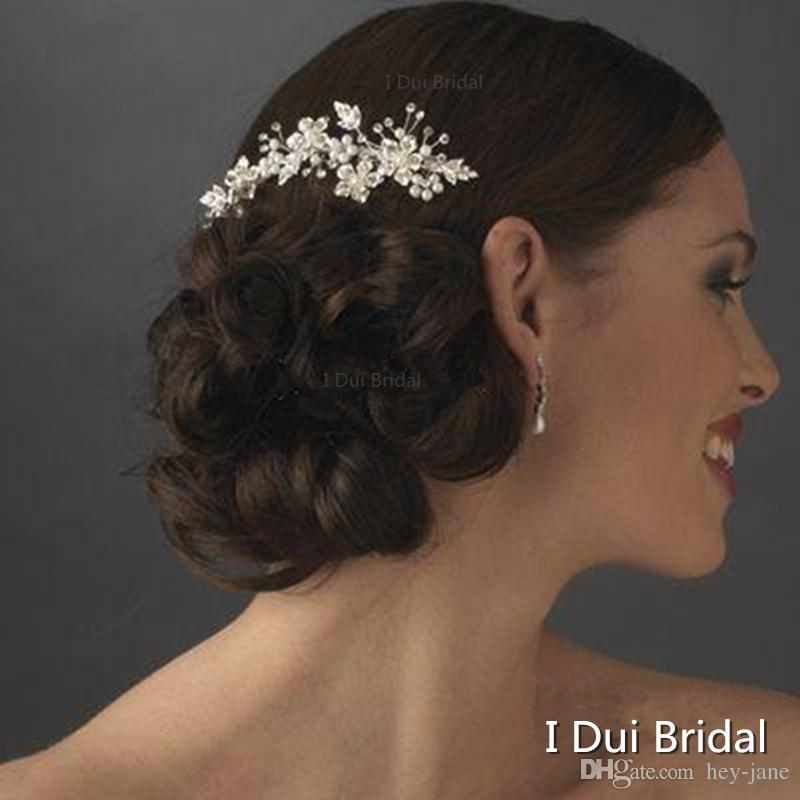 2020 Venta caliente del envío libre cristalino de la alta calidad de boda flexible Accesorio para el pelo floral Sydney peine nupcial