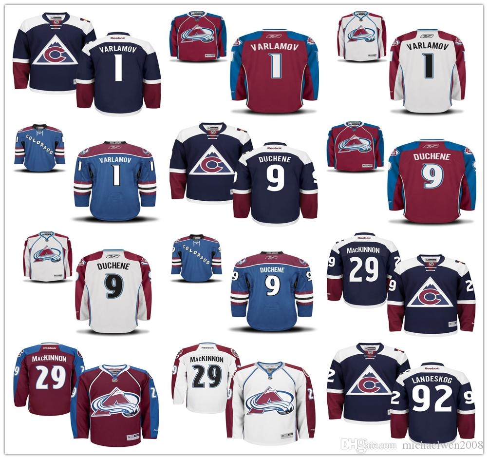 11b64882f12 where to buy ado avalanche jersey blank 1 semyon varlamov 9 matt duchene 29  nathan mackinnon