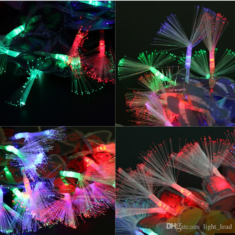 3.2M 20LED Battery Case Fiber Optic String Light butterfly Light For Christmas Wedding Party Garden Decoration