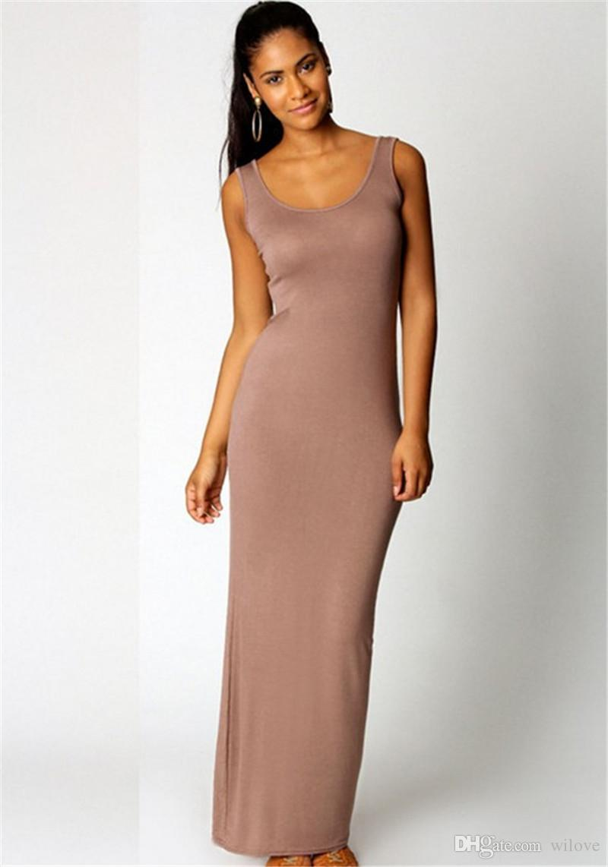 Sexy Bodycon Club Evening Dress Women Vest Tank Maxi Dress Silk Stretchy Casual Summer Long Dresses Sleeveless Backless Lady Dress Clothing