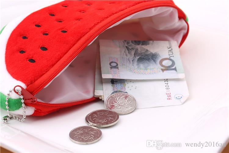 DHL libre 100 unids / lote 20 * 10 cm Big Sandía Monedero de Bolsillo Billetera Bolsa Bolsa BOLSA Bolso de la Cartera para Las Mujeres Mejores Regalos