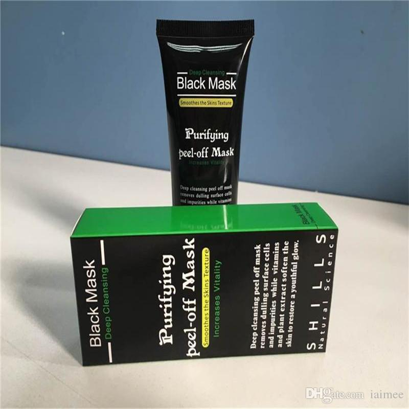 Black Suction Mask Anti-Aging 50ml SHILLS Deep Cleansing purifying peel off Black face mask Remove blackhead Peel Masks