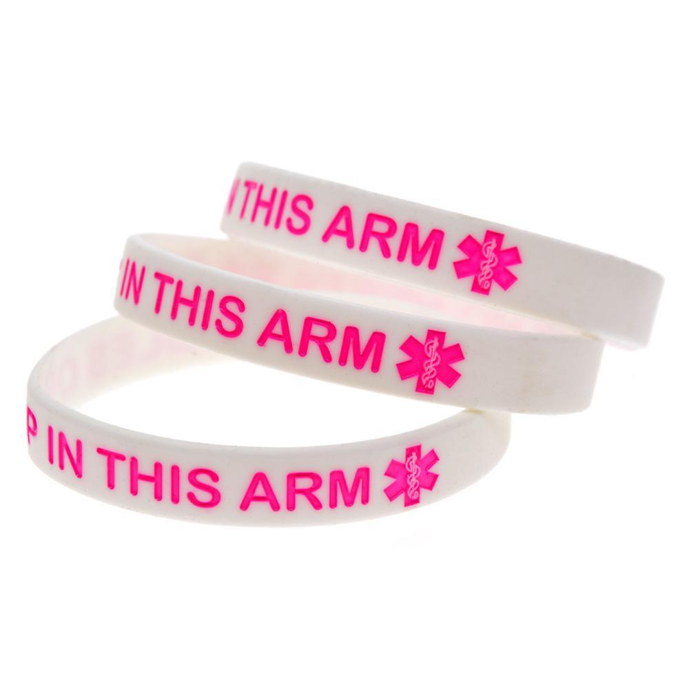 Горячие продать 1 шт. Нет иглы или BP в этой руке силиконовый браслет чернил заполнены логотип браслет взрослый размер