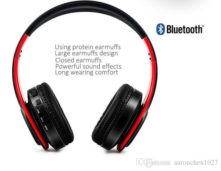 Casque d'écoute / casque Bluetooth sans fil coloré avec vente avec microphone / emplacement pour carte Micro SD écouteur / casque bluetooth
