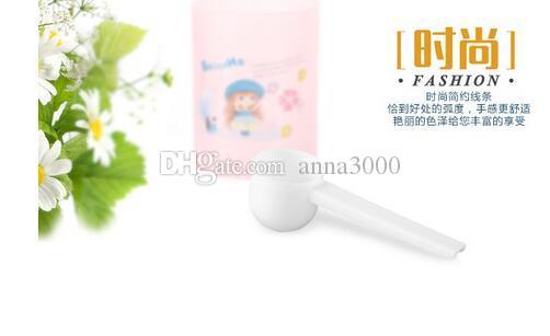Ucuz Toptan Profesyonel Beyaz Plastik 5 Gram 5g Kepçe / Gıda / Süt İçin Kaşık / Yıkama Tozu / Tıp Ölçüm