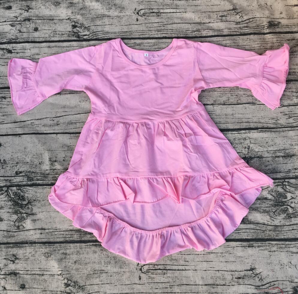 c1981f3cf 2019 Hot Sale Kids High Low Long Sleeve Dress Wholesale High Quality ...