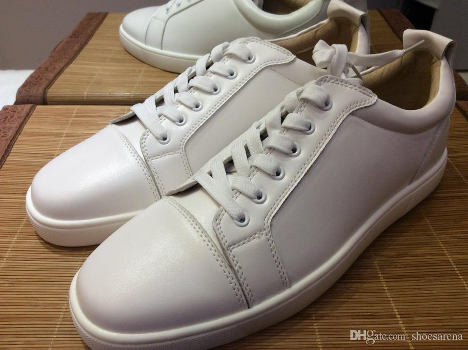 6dc28732e9 MBF996C Size 35 47 Men Women White Genuine Leather Low Top Lace Up Fashion  Sneakers, Unisex Luxury Design Comfort Spring/Autumn Casual Shoes Casual  Shoes ...