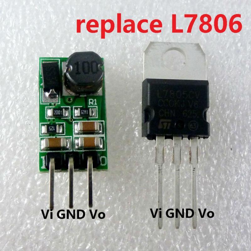 1a Dc 7 5 40v Regulador De 12v A 6v Dc Dc Modulo Convertidor Reductor Buck Board Reemplace Lm7806 L7806 To 220 Ic