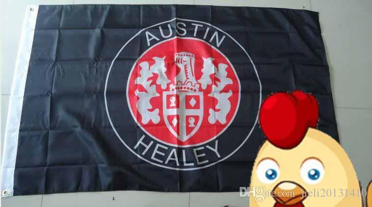 флаг Остина Хили, размер 90X150CM, полиэфир 90*150cm 100% polyster,bintang 100%, цифровое печатание