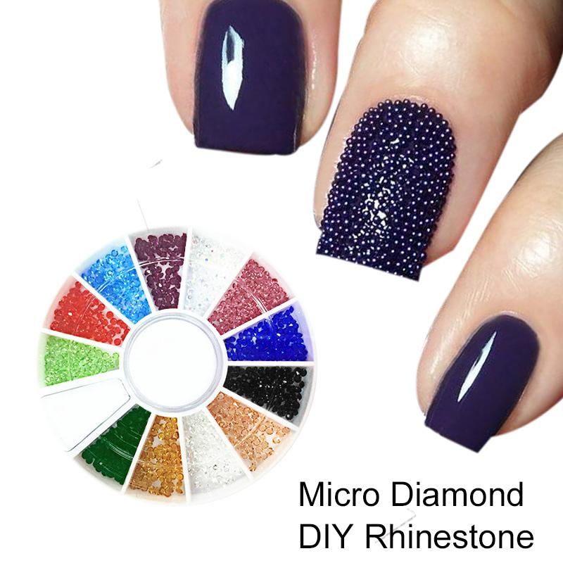 Wholesale 1Box Micro Diamond DIY Nails Rhinestones Crystal Flat Back ...