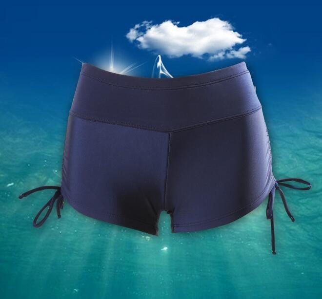 wholesale women beach shorts woman swim shorts swimwear for women high waist yoga shorts 3XL with inner belt free dhl D110