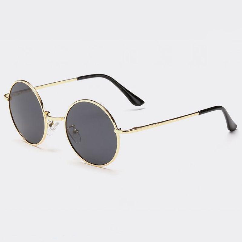e9c5ce7014df7 Compre Retro Vintage Pequeno Em Forma Redonda De Arame De Metal Quadro  Unisex Polarized Sunglasses 45mm Lentes Circulares Circular Óculos Eyewear  De ...