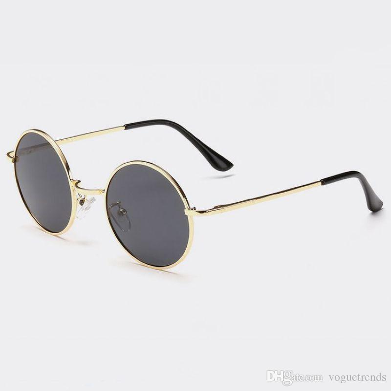 fd6b4ec409 Vintage Retro Small Round Shaped Wire Metal Frame Unisex Polarized  Sunglasses 45mm Circle Lenses Circular Glasses Eyewear Heart Shaped Sunglasses  Mirrored ...