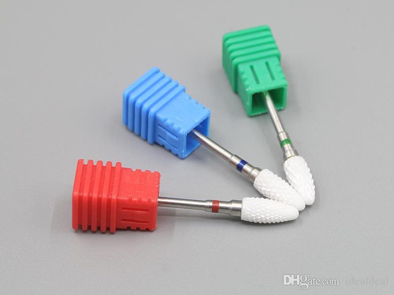 세라믹 글 머리 기호 비트 네일 아트 드릴 비트 전기 드릴에 대 한 밀링 커터 매니큐어 기계 액세서리 네일 파일 도구