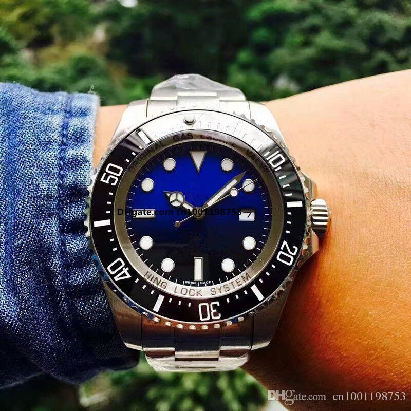 2017 Luxo New Gent GMT II 2 quartzo Relógios Auto Vento Mergulho De Aço Inoxidável Branco Preto Prata Mestre 44mm Mens Watch