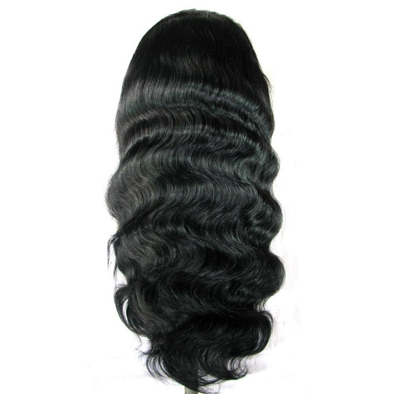 Cheap Full Lace Wigs With Baby Hair Unprocessed Brazilian Virgin Human Hair Lace Front Wigs Body Wave 130% Density Natural Hairline