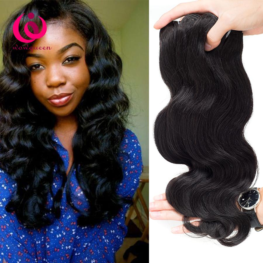 Mongolian Human Weave Hair Body Wave 4bundles Wow Queen Hair Double