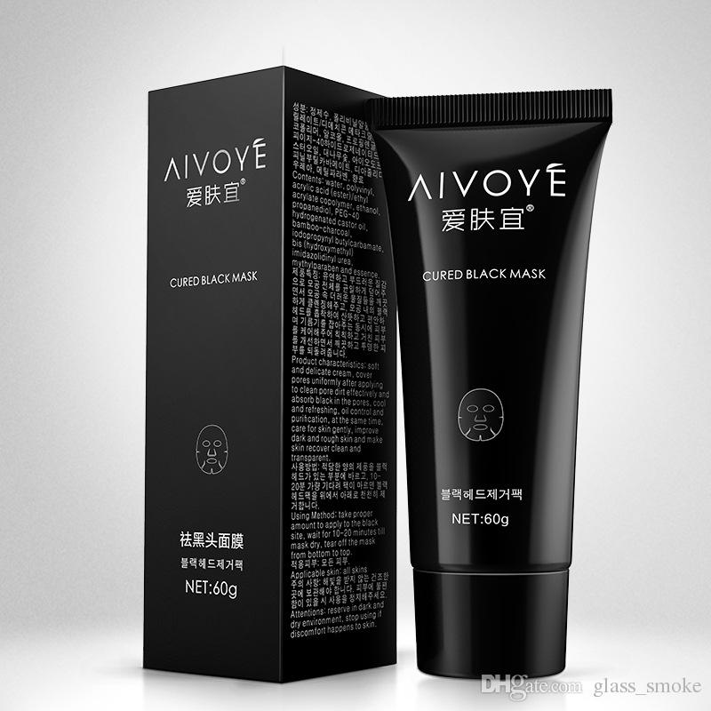 60g AFY Blackhead Remover Mud Facial Mask Alove Cured Black Mask Nose Acne Deep Cleansing Face Skin Care Pore Cleaner Black Head Removal