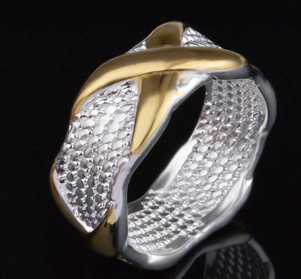 Statement Rings for Women Vintage Jewelry Silver Rings Fashion European Style Gold X Rings for Lady Party Decoration Christmas Gift DHL Free