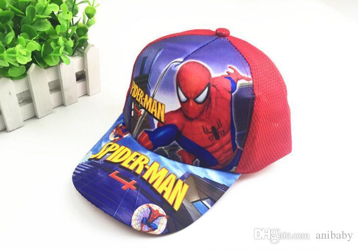 Kinder Spiderman Trolle Hüte Caps NEUE Kinder Ball Kappe Jungen Mädchen Cartoon Prinzessin Baseball Hut H007