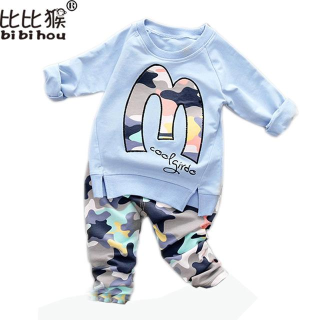 2ccd22e91 Wholesale- Kids Clothes Set Baby Boys Girls Clothes Suit Toddler ...