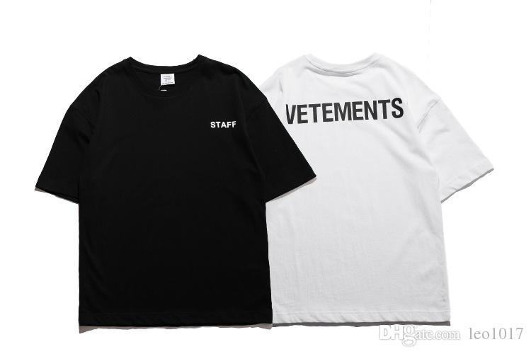 New arrival vetements staff justin bieber t shirt short for Vetements basic staff t shirt