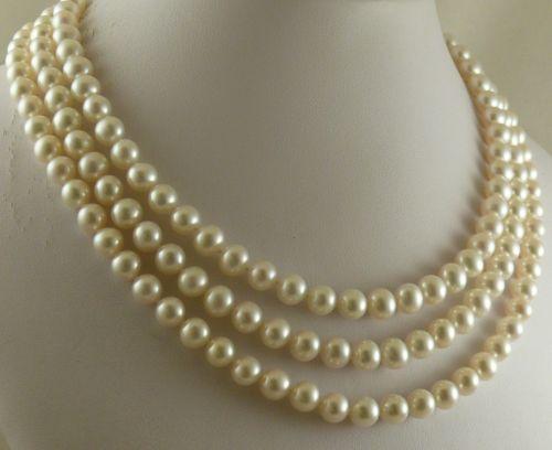 2c9ee80b2793 Compre Impresionante 8 9mm Collar De Perlas Blancas Del Mar Del Sur 18 22  Pulgadas 9