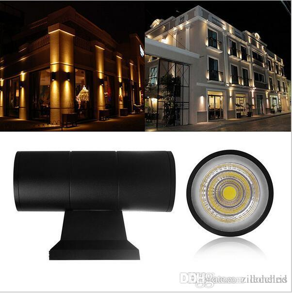 9w E27 Led Outdoor Wall Lamps Waterproof Ip65 Up Down Cylinder Wall Lights Dual Head For Courtyard Porch Garden Exterior Sconce Sturdy Construction Led Lamps