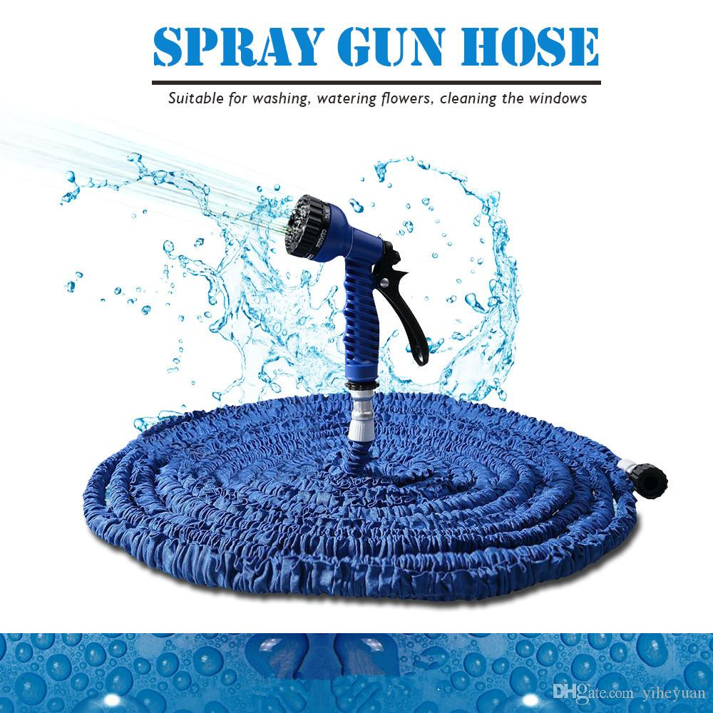 Top Selling 50FT Garden Hose Expandable Magic Watering Hoses Garden Water Pipe With Spray Gun Drip Irrigation Mangueira