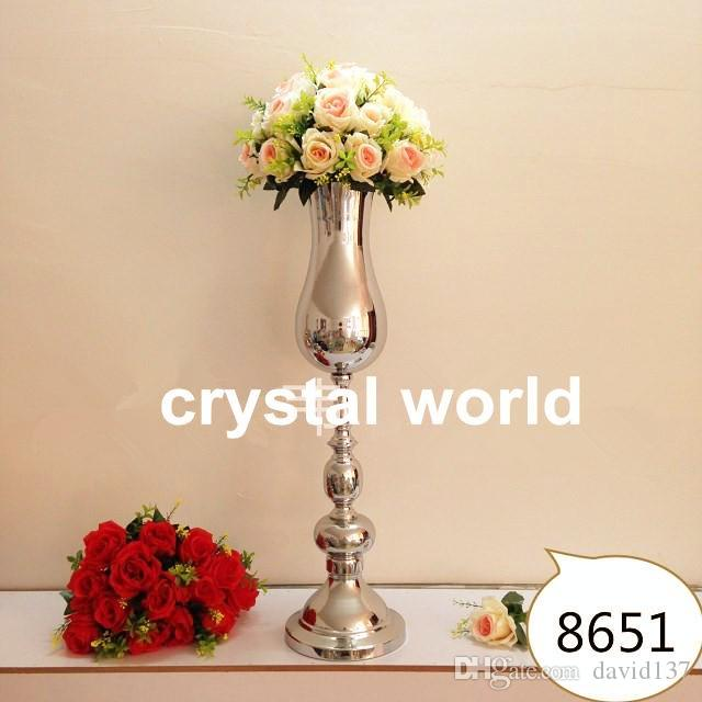 10 pz / lotto Europeo romantico metallo nastro 67867 centrotavola di nozze decorazione vasi di nozze pop