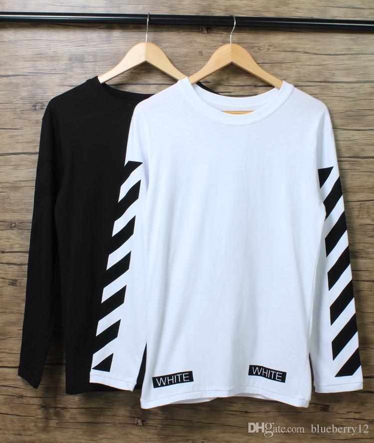 Fashion Hip Hop Mens Long Sleeve Cotton T Shirt O Neck Outdoor ...