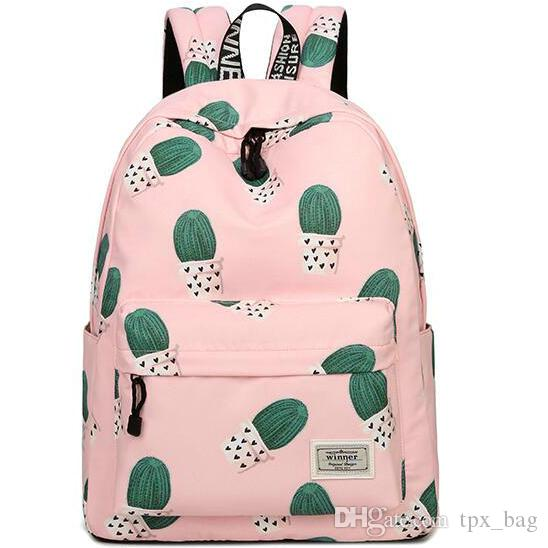 Ball cactus backpack Echinopsis tubiflora daypack Scrawl printing schoolbag Casual rucksack Sport school bag Outdoor day pack